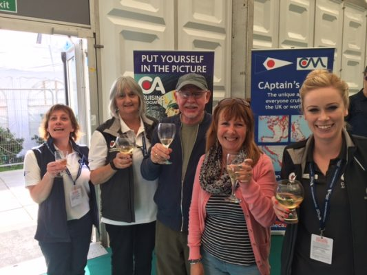 cruising association drinking champagne with its members