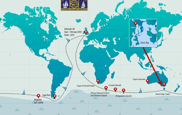 golden globe race 2018 route map