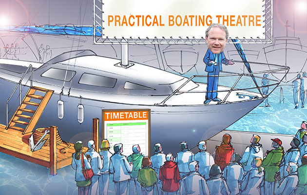 PBO editor Rob Melotti to launch the Practical Boating Theatre at 2018 London Boat Show.