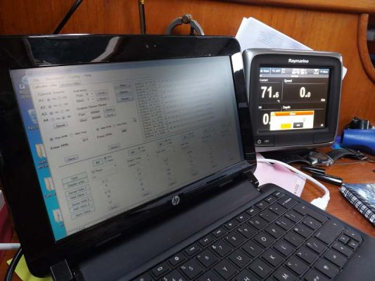 How to convert analogue engine data and battery levels to