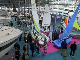yachts on display at the London Boat Show