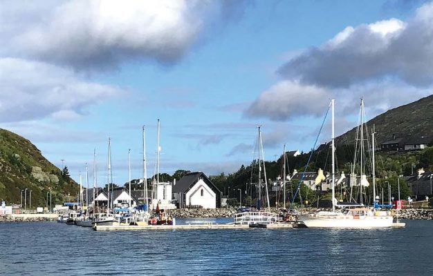 Isle of Harris Marina is right next to the famous Isle of Harris distillery