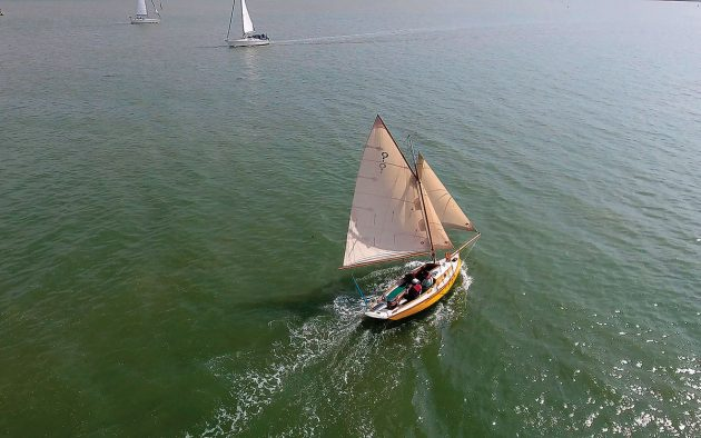 There are a handful of finished Secret 20s in the UK including Whisper, built by Max Campbell, which lies on a mooring in Essex