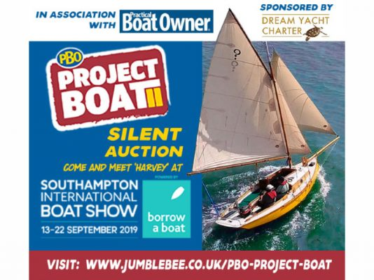 PBO Project Boat auction at Southampton Boat Show 2019