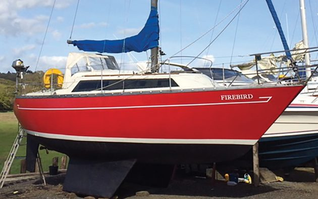 Firebird is a Mirage 28 restored then sold on