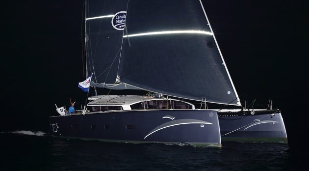 First yacht across the line ARC 2019: photo Tim Wright/ photoaction.com