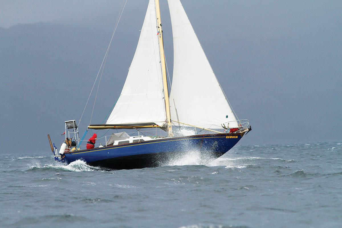 Le Nicholson 32, l'un des premiers voiliers en fibre de verre
