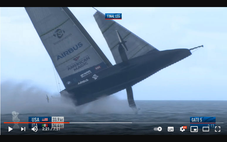 Frantic footage of capsizing America's Cup racer - Practical Boat Owner