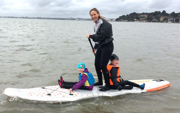 Paddleboarding in Sandbanks, Dorset on the Touring Shark SUP