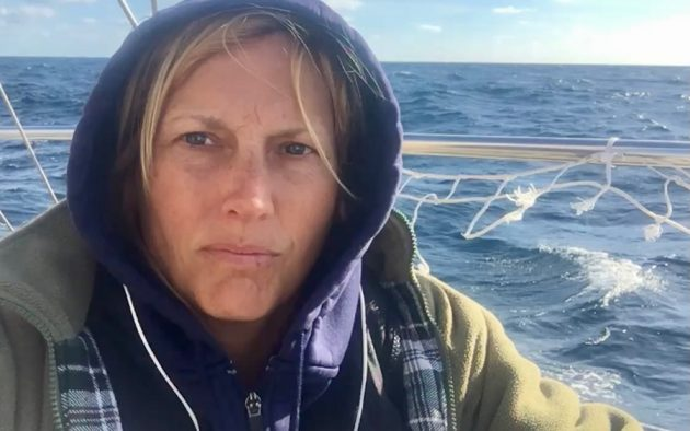 Michelle suffered extreme seasickness for four days and four nights in the Bay of Biscay