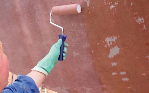 When using Coppercoat follow the manufacturer's instructions carefully, especially if painting a steel yacht