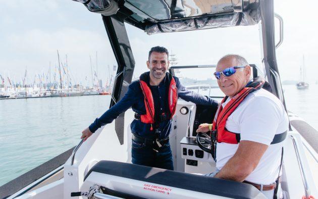 Francis Benali at the Southampton Boat Show 2021