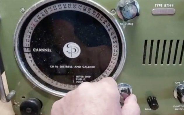 The old Sailor radio from Maximus is undergoing repairs