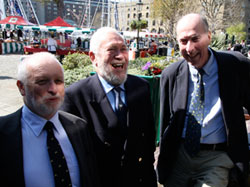 Pauil Gelder, Robin Knox Johnston and Andrew Bray