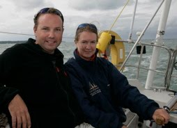 Graham and Kirsty aboard Pixie