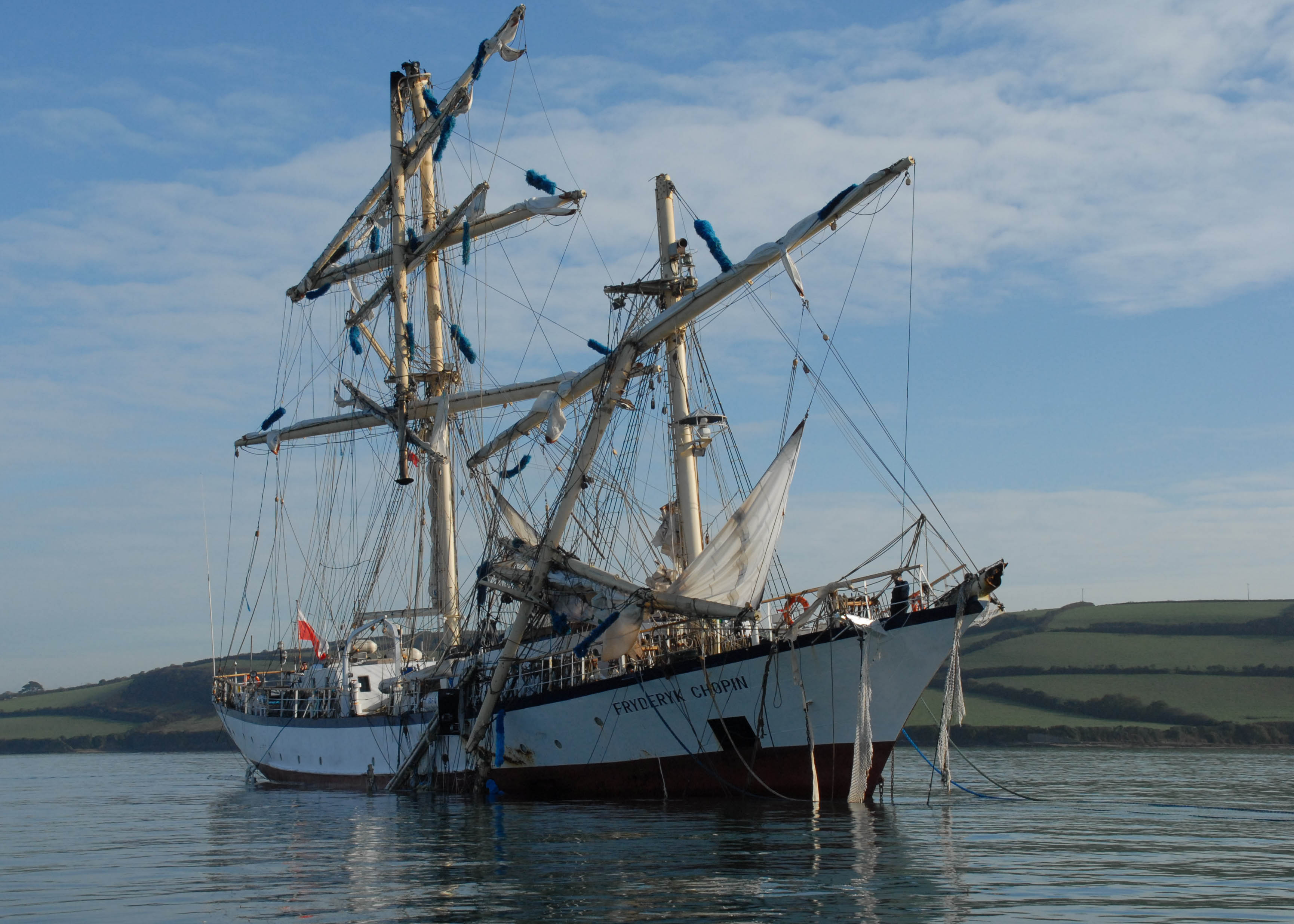 Tall Ship Dismasted Off Scilly Isles Yachting Monthly