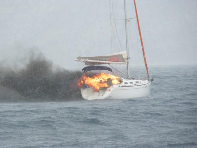 fire neilson yacht flotilla