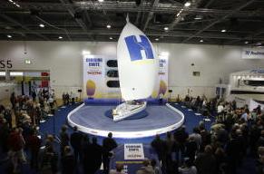 cruising chute demo london boat show