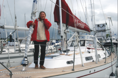 British sailor Jeanne Socrates in new record attempt - power-boating