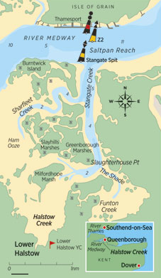 Burntwick Island On The River Medway