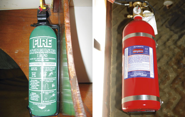 why are halon fire extinguishers illegal in the uk