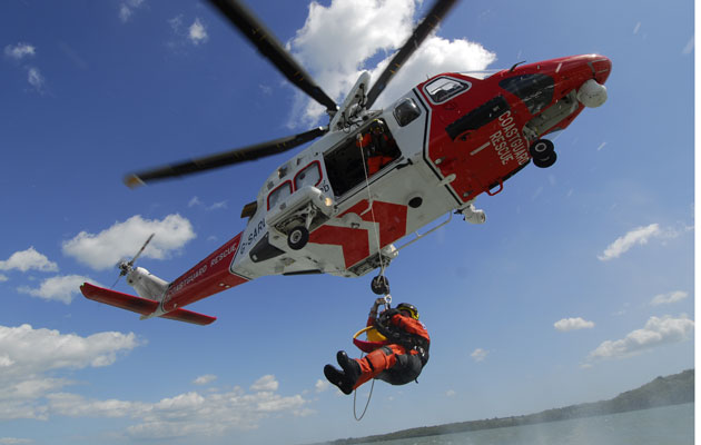 Sailing skills rescue SAR helicopter