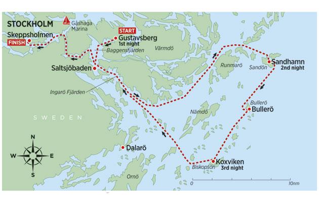 Stockholm Islands Map