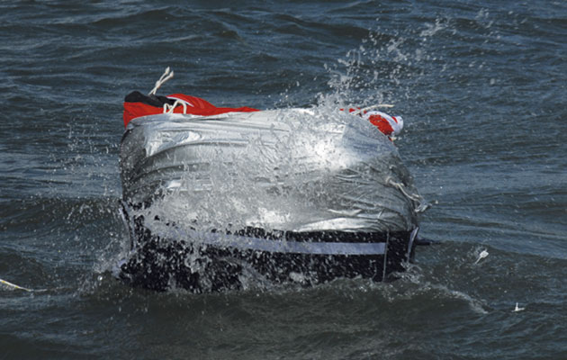 Six ISO 9650 liferafts tested