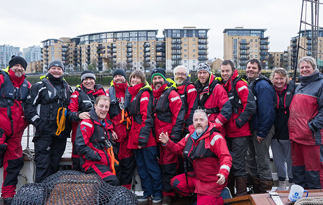 Veterans, staff and volunteers from Turn to Starboard involved with the Round Britain Challenge 2016 at the London Boat Show