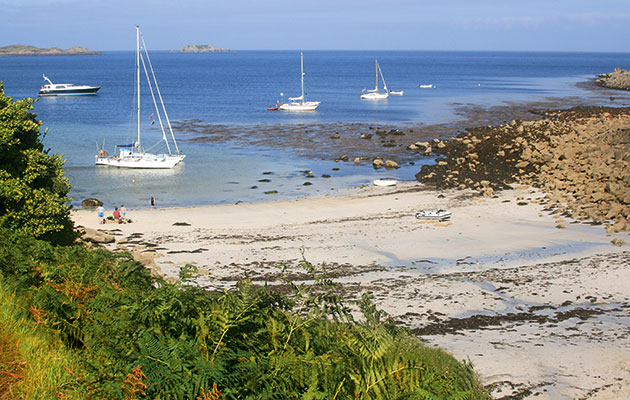 Anchorages Watermill Cove Scilly