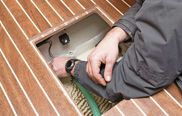 Check that the float switch of your automatic bilge pump is working properly