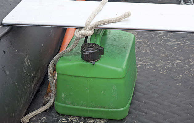 Only keep petrol in a container for a month, no longer.