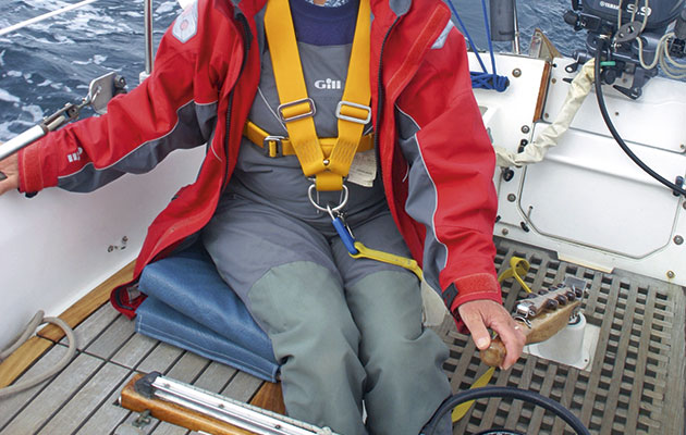 enjoying life in harness yachting monthly Laptop Harness a waterproof jacket can easily be opened for ventilation if the safety harness is worn underneath it