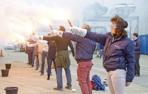 Easter flare amnesty at Cobb's Quay - power-boating