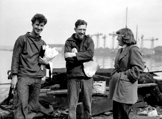 Edward Allcard along with fellow sailors American Norman Fowler and Ann Davison