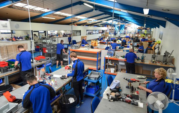 people working at Spinlock factory