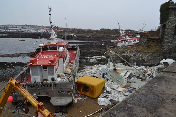 The polystyrene from the pontoons has now polluted many miles of coastline. Credit: Jonathan Fox