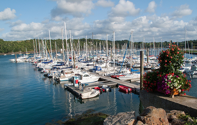 Sheltered marinas are great until you need to come in without help from the engine.