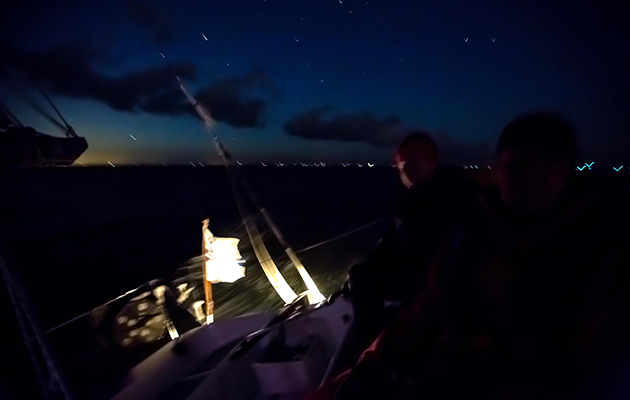 If a crew went overboard while sailing at night, would you know what to do?
