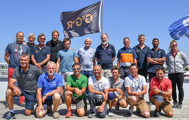 The 18 skippers taking part in the Golden Globe Race