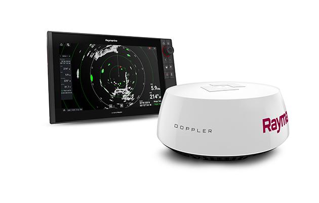 A white Raymarine Quantum 2 Doppler Radar
