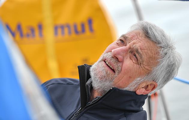 Jean-Luc Van Den Heede has now rounded  the Cape of Good Hope. Credit: Christophe Favreau/Matmut/PPL