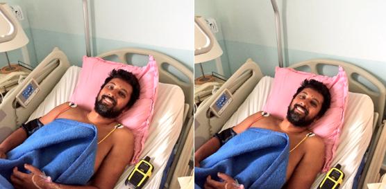 Golden Globe Race skipper Abhilash Tomy lying in hospital