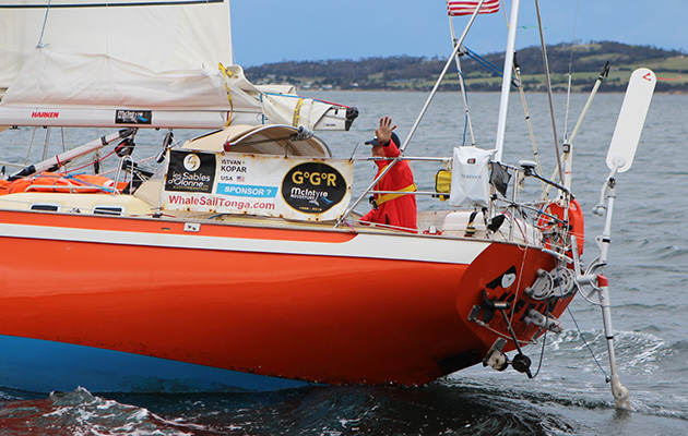Istvan Kopar sailing