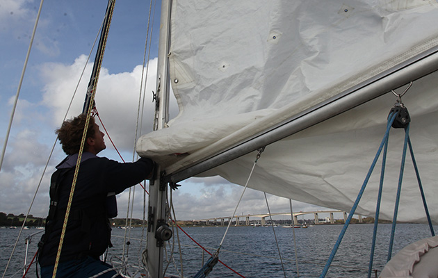 Take the stress out of sailing shorthanded: handling sails