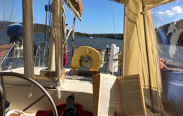 Making time to relax while sailing