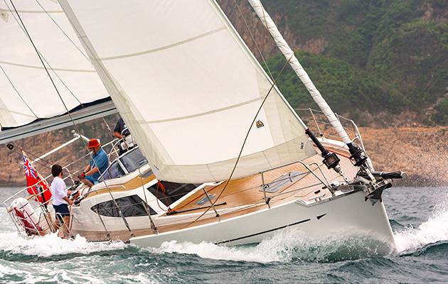 Kraken 50 sailing in choppy waters