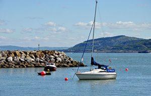 Rhos on Sea anchorage in North Wales