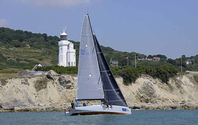 Brewin Dolphin Commodores' Cup 2014 Day 5 Friday, Round the Island Race. Needles Light House Teasing Machine