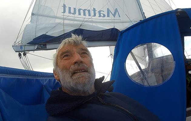 Jean-Luc Van Den Heede sailing Matmut in the 2018 Golden Globe Race